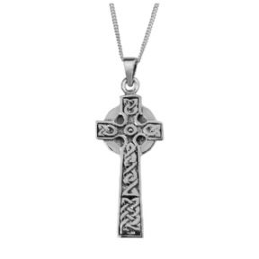 Celtic Cross Silver Plated Pendant 9176